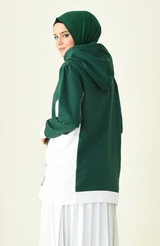 قميص رياضي أخضر زمردي 1009-01