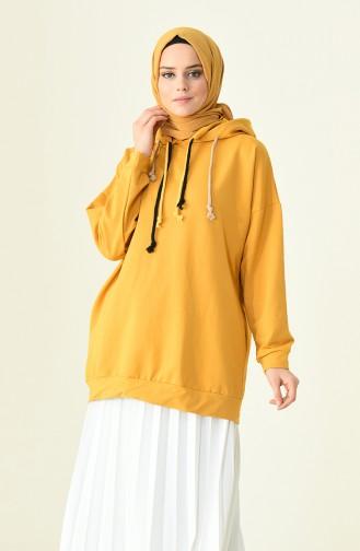 قميص رياضي أصفر خردل 1014-05