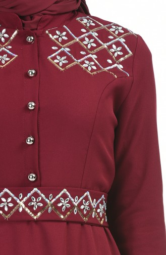 Gems Hijab Dress 9611-04