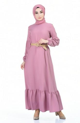 Powder Hijab Dress 4527-03