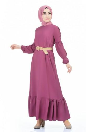 Beige-Rose Hijap Kleider 4527-04