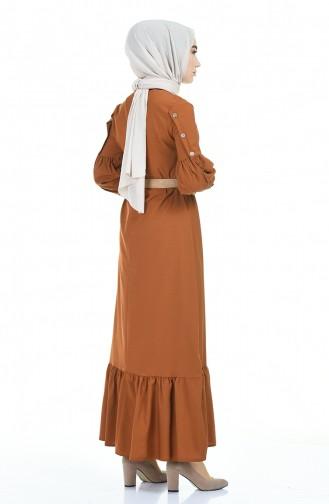 Tobacco Hijab Dress 4527-07