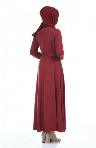 فستان أحمر كلاريت 5062-03