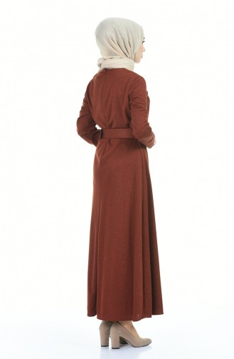 Robe Hijab Couleur cannelle 5062-04