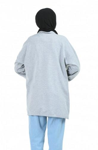 قميص رياضي رمادي 1002-01