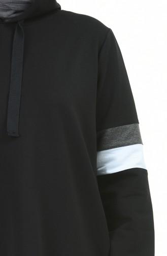 بيجامة الرياضة أسود 10012-04
