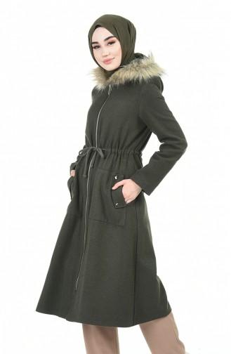 Khaki Long Coat 1188-02