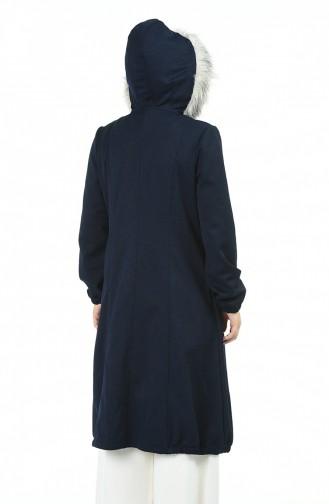 معطف طويل أزرق كحلي 7111-03