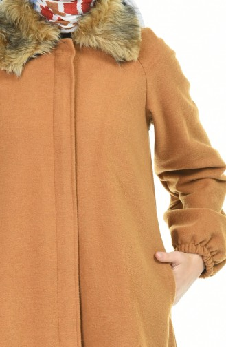 معطف طويل عسلي 5026-02