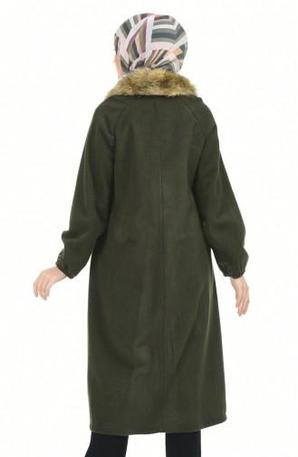 معطف طويل كاكي 5026-04