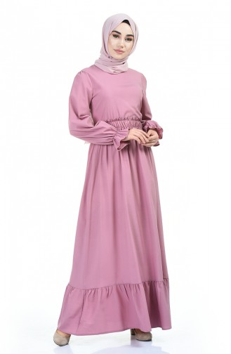 Robe à Taille Élastique 4532-03 Poudre 4532-03