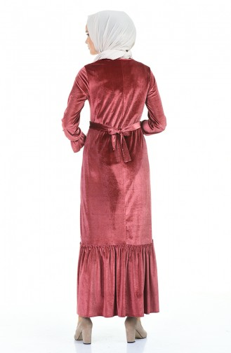 فستان زهري باهت 5053-04