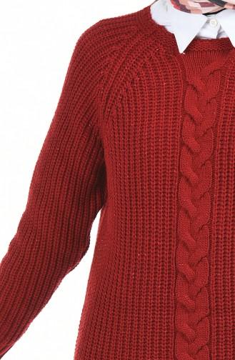 تونيك أحمر كلاريت 3031-04