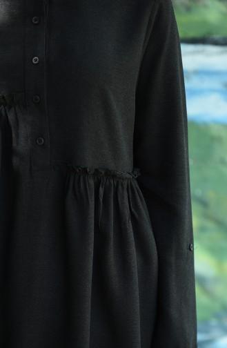 Fırfırlı Tunik 8076-01 Siyah