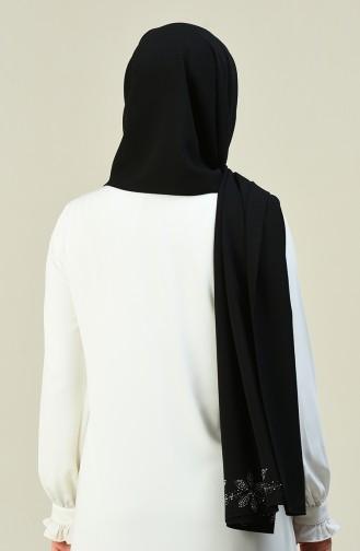 شال أسود 6907-01