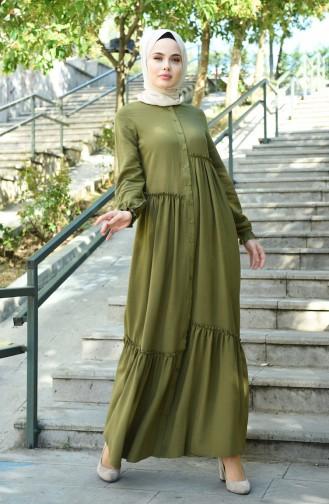 فستان كاكي 8025-05