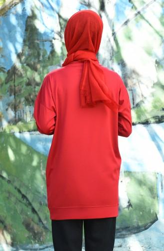 Claret red Tunic 8090-07