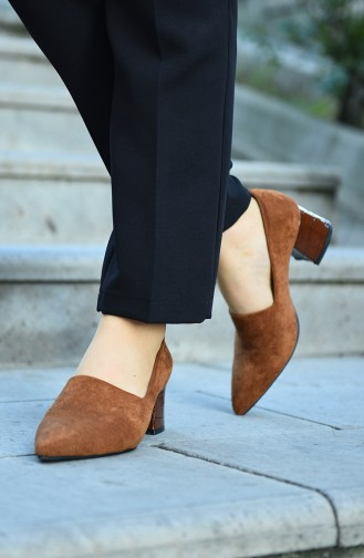 Tobacco Brown Heeled Shoes 29510-02