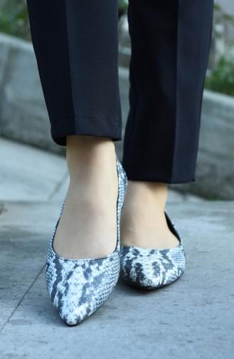 Bayan Ayakkabı 381-03 Siyah Yılan 381-03