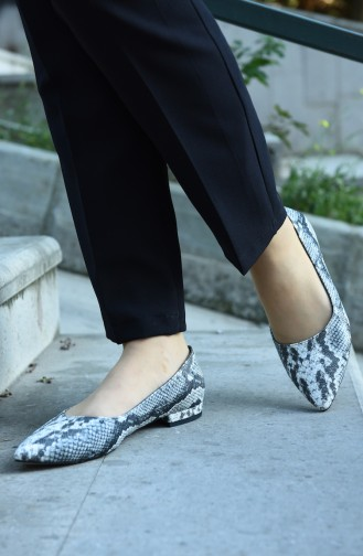 حذاء مسطح أسود 381-03