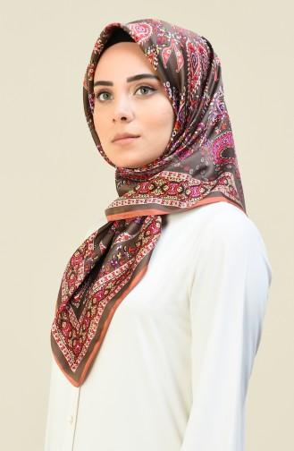 Karaca Desenli Rayon Eşarp 90614-10 Somon Vizon 90614-10