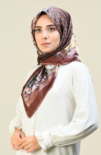Karaca Patterned Rayon Scarf Powder Dried rose 90615-02
