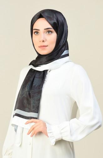 Desenli Pamuk Şal 95304-02 Siyah 95304-02