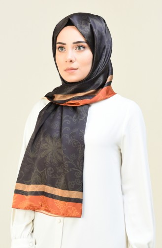 Desenli Pamuk Şal 95304-05 Koyu Haki 95304-05