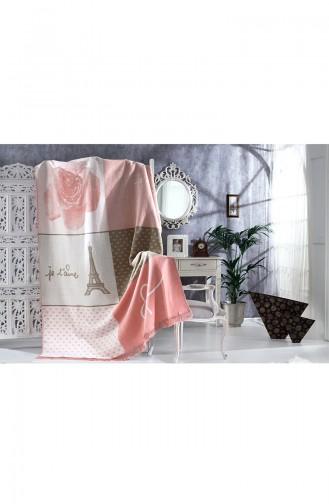 Aksu Couverture Coton Une Personne Catherine 10101038 Rose 10101038