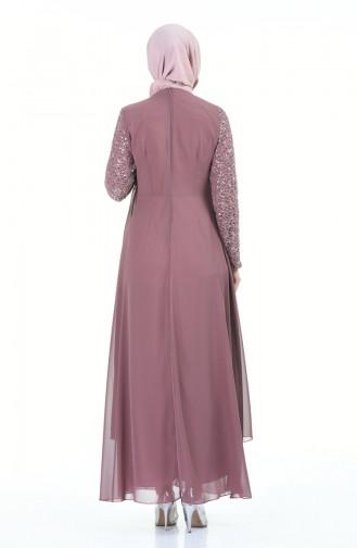 Dusty Rose İslamitische Avondjurk 52758-08