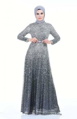 Habillé Hijab Gris 9120-02