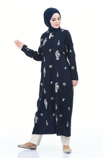 فستان أزرق كحلي 0060-02