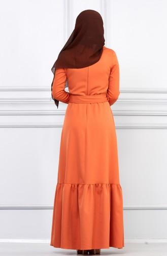 فستان بني باهت 5042-05