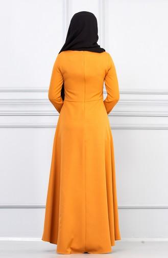 فستان أصفر خردل 5041-01