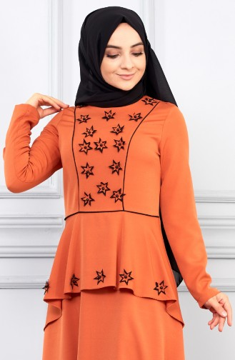فستان بني باهت 5041-05