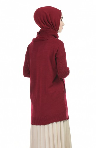 Claret red Sweater 0508-04