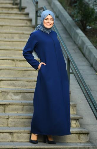Dark Saxon Blue Abaya 8043-01