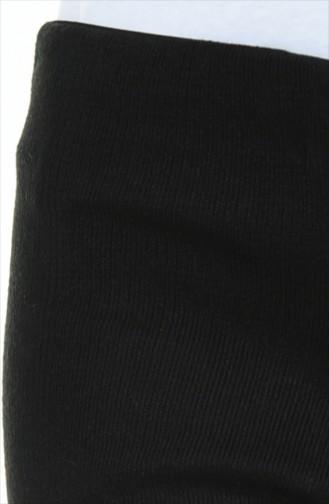 Pantalon Tricot Large  0520-01 Noir 0520-01
