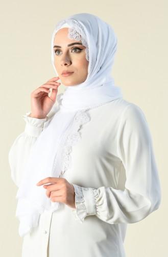 شال أبيض 70139-02