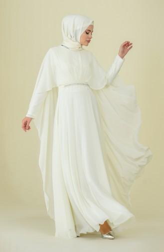 فساتين سهرة بتصميم اسلامي كريمي 9202-02