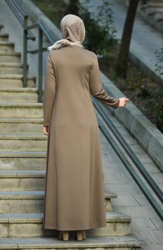 Dark mink İslamitische Jurk 8065-01