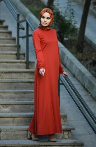 Robe Hijab Couleur brique 8065-03