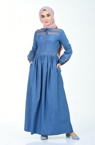 فستان أزرق كحلي 5140-03