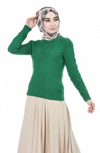 Grün Pullover 8036-08