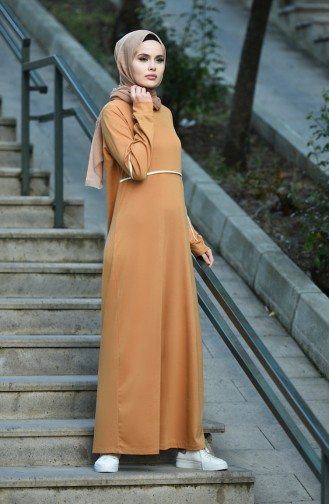 فستان أصفر خردل 8059-03