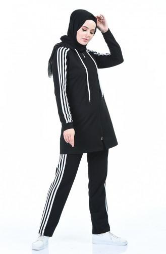 Schwarz Jogginganzüge 7016-01