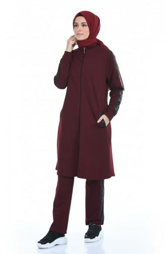 Claret red Sweatsuit 7015-03