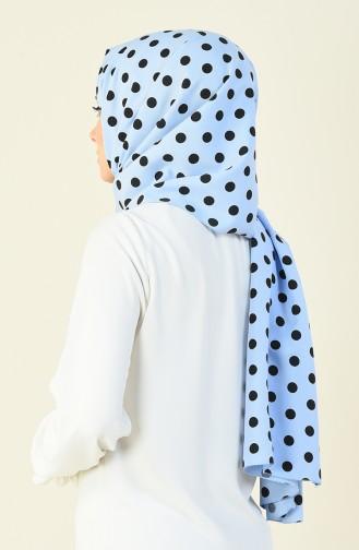 Large Polka Dot Shawl Blue 15027-02