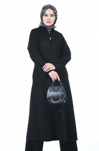 Zippered Coat 1035-01 Black 1035-01