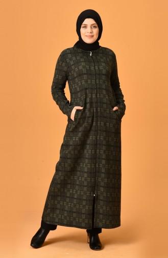 Khaki Abaya 99220F-01